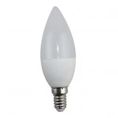 Lâmpada LED Casquilho Fino Forma Oval C37 E14 3W 3000K Luz Branco Quente (Un)