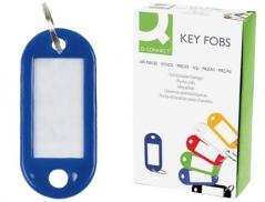 Porta Etiquetas para Chaves Azul (Un)