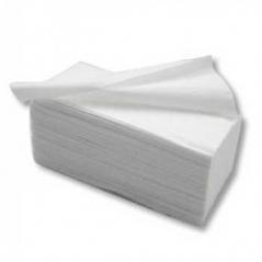 Toalhas Maos Zig Zag 21x22(210mmX220mm) Branco Pasta Virgem 2Fls (~180Un)