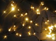 Conjunto de Luzes c/100 Leds Natal Branco Quente (Un)