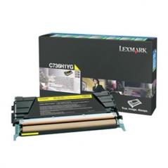 Lexmark C736H1YG Toner Amarelo Alta Capacidade (Un)
