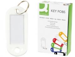 Chaveiro Porta-Etiquetas Branco (Un)