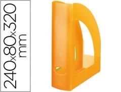 Porta Revistas Plastico Laranja Translucido (Un)