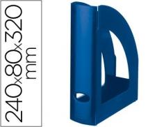 Porta Revistas Plástico Azul Opaco (Un)