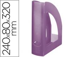 Porta Revistas Plástico Violeta Translucido (Un)