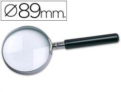 Lupa Cristal Aro metálico 89mm (Un)
