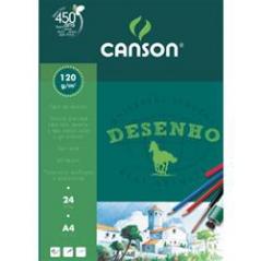 Bloco Desenho ( cavalinho ) Canson A4 120gr (24Fls)