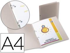 Pasta Plastico c/ 2 Argolas A4 Transparente (Un)