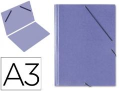 Pasta c/ Elasticos A3 Azul (Un) #