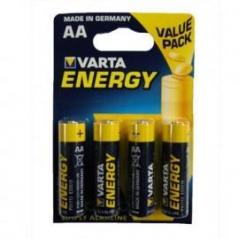 Pilhas Alcalinas LR6 1,5V AA 2600mAh Varta (Pack4) (Un)