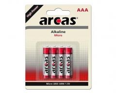 Pilhas Alcalinas LR03 1,5V AAA (4Un) (ARCAS)