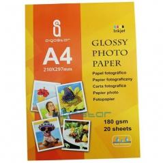 Papel Fotográfico High Glossy A4 180grs 20fls (Un)