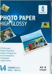 Papel Fotográfico High Glossy A4 230grs 20fls (Un)