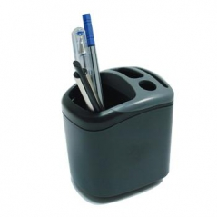 Porta Lapis Plástico Quadrado 4 Compartimentos (Un)