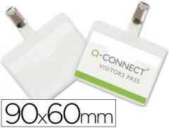 Porta Nomes Q-Connect Horizontal Mola 90x60mm (Un)
