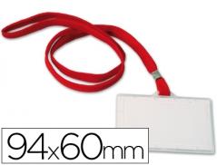 Porta Nomes Q-Connect c/Fio Pescoco 94mmx60mm (Un)