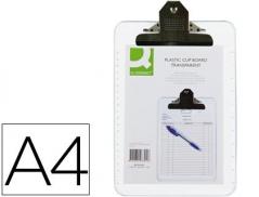 Prancheta Plastico A4 c/ Mola Metalica Transparente (Un)