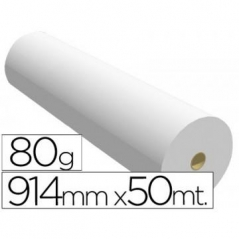 Rolo Papel Plotter 914mmx50mts 80gr Premium (Un)