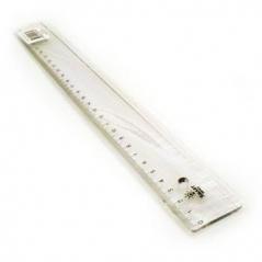 Regua Plastico Cristal 30cm (Un)