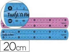 Régua Maped Plástico Flexível 20 cm (Un)