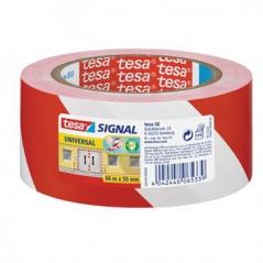 Fita Adesiva TESA SIGNAL segurança vermelho/Branco 50mmx66mts (Un)
