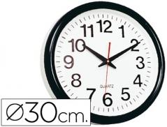 Relogio Parede Plastico (Ø30cm) Preto (Un)