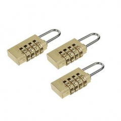 Cadeado c/ combinação 4 digitos 20mm Pack 3Un (Un)