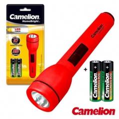 Lanterna LED Camelion + 2 Pilhas LR6 AA Incluídas (Un)