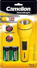 Lanterna LED Camelion + 2 Pilhas R14 Incluídas 15 Cm (Un)