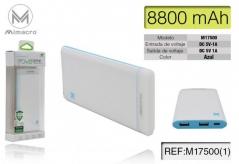 Powerbank M17500 8800mAh - Azul (Un)