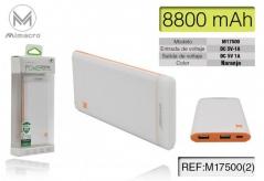 Powerbank M17500 8800mAh - Laranja (Un)