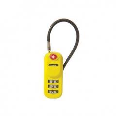 Cadeado c/ combinação 3 digitos p/ bagagem Amarelo 20mm (Un)