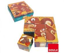 Jogo Puzzle DISET c/ 9 Cubos Animais (Un)