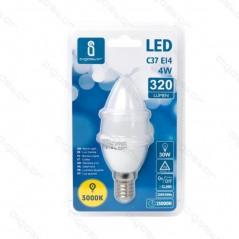Lâmpada Led Casquilho Fino 4W Oval Luz Quente(Un)