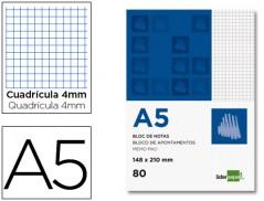 Bloco Apontamentos A5 Quadriculado 80Fls (Un)