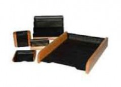 Conjunto Secretaria 6 Pecas Preto c/ madeira