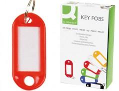 Porta Etiquetas para Chaves Vermelho (Un)