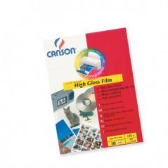 Papel Fotografico Canson Film Polyest 130gr A4 p/ InkJet 10Fls Branco