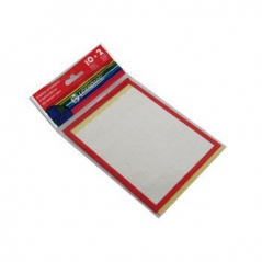 Etiqueta Branco 12fls 12mmX18mm(12x18) 504 Etiq / 42 Etiquetas por folha