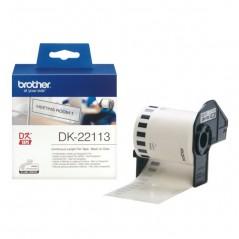 Brother DK22113 Etiqueta Transparente Continua 62mmX15,24mts