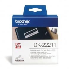 Brother DK22211 Etiqueta Branco Continua 29mmx15,24mts