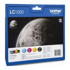 Brother LC1000VALBP Tinteiro 130/330/540/750CW Pack 4 cores