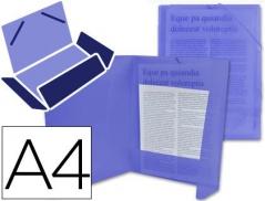 Pasta Plástico Azul A4 c/ Elásticos 3 abas (Un)
