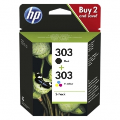 HP 3YM92AE Nº303 Pack 2 Tinteiros Preto/Cores HP ENVY Photo 6200/ 7100/ 7800 All-in-One