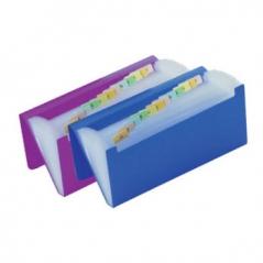Bolsa Expansivel c/12 divisoes cheque cores sortidas