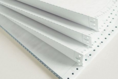 Papel Continuo 2 vias 12x9,5 branco CX1000 fls *