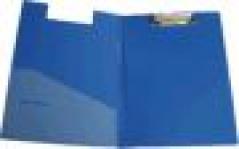 Clip Board de Plasticoc/ Bolsa Interior Capa Rija Azul *