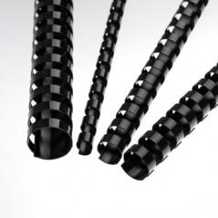 Argolas PVC Encadernar 14mm 110 Fls Preto (100Un)