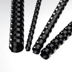 Argolas PVC Encadernar 10mm 60 Fls Preto (100Un)