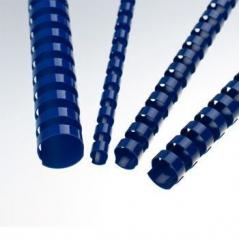Argolas PVC Encadernar 06mm 20 Fls Cx100un Azul